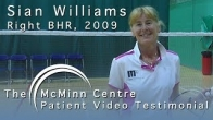 Badminton with a Birmingham Hip Resurfacing (BHR) - World Masters Doubles Champion Sian Williams