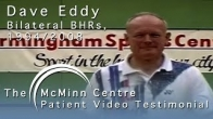 Badminton with Birmingham Hip Resurfacing Badminton Masters Champion Dave Eddy with Derek McMinn
