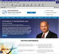 PRODROMOS Stem Cell Institute<br>Chadwick C Prodromos, M.D.