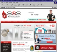 SOS  <br> Hot Water and Plumbing Services