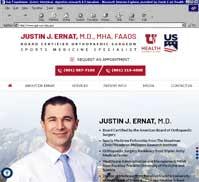 Justin J. Ernat, M.D., MHA, FAAOS