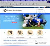 Humphrey Shoulder Clinic<br>C. Scott Humphrey MD