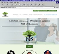 NTS Orthopedics<br>Christian Isaac MD