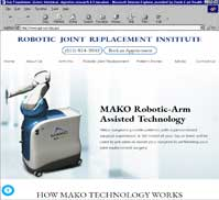 ROBOTIC JOINT REPLACEMENT INSTITUTE<br>Suresh Nayak, M.D.
