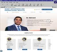 Desert Orthopaedic and Rheumatologic Institute<br>Dr. Roshan Melvani