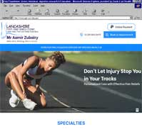 Lancashire Foot and Ankle Clinic<br>Mr Aamir Zubairy<br>MBBS, FRCSI, FRCS(Eng), FRCS (Tr & Orth)