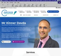 Precision Foot and Ankle<br>Mr Kinner Davda