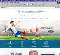 Dr. Rob Creer<br>Canberra Orthosports