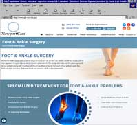 NewportCare - Foot & Ankle Surgery