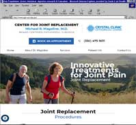 Crystal Clinic's Michael Magoline MD - Joint Replacement