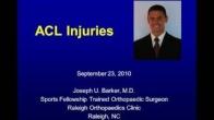 ACL Injury Treatment - Joseph U. Barker, Orthopaedic Surgeon Raleigh