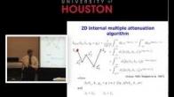 Arthur B Weglein's Tutorial - Introduction for Multiple Attenuation Part II