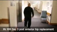 Mr MM Day 3 post anterior hip replacement