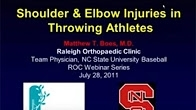 Shoulder and Elbow Injuries in Throwing Athletes