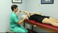 Supine (on you back) Passive Elevation with Pole