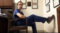 Two simple home exercises after total knee replacement (extension & flexion range of motion therapy)
