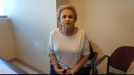 Arlene feels better after disc hernia surgery.