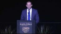 Team Doc: Dr. Keller presents award at the 2018 Oakland University Black and Goal Awards!
