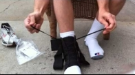 How to wear an ASO Ankle Brace