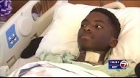 High school athlete optimistic of rehab treatment after being paralyzed during football game