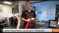 Dr. Badlani on KHOU explaining backpack safety for back to school