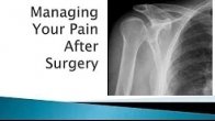 Managing Your Pain After Surgery