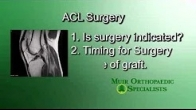 What do you ask your doctor when preparing for ACL surgery?