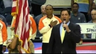Ben Domb sings Star Spangled Banner at Allstate Arena