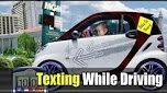 Baby texting while driving