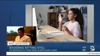 Discussing virtual learning and desk setup for kids