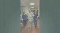 82 Year Old Patient After Hip Replacement Surgery