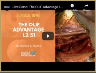 Live Demo: The OLIF Advantage L2 S1 - Richard A. Hynes, MD