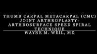 Thumb Basil Joint Arthroplasty- Speed Spiral Technique