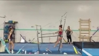 Back to competitive gymnastics after knee cartilage surgery. Watch me go!